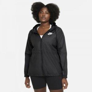 Женская куртка из тканого материала Nike Sportswear (большие размеры) - Черный
