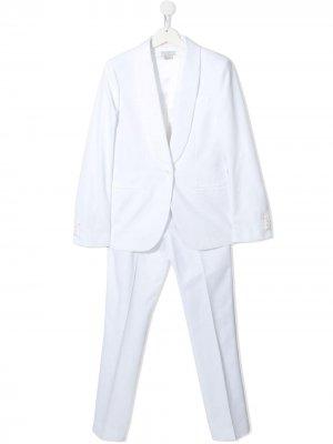 Костюм с однобортным пиджаком Stella McCartney Kids. Цвет: белый