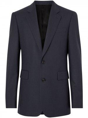Классический пиджак в тонкую полоску Burberry. Цвет: синий