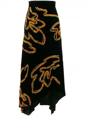 Асимметричная юбка Peter Pilotto. Цвет: черный