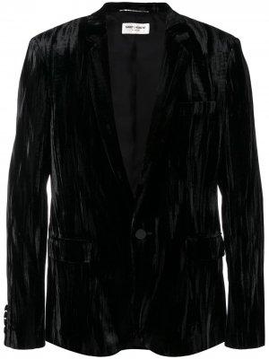 Костюмный пиджак строгого кроя Saint Laurent. Цвет: черный