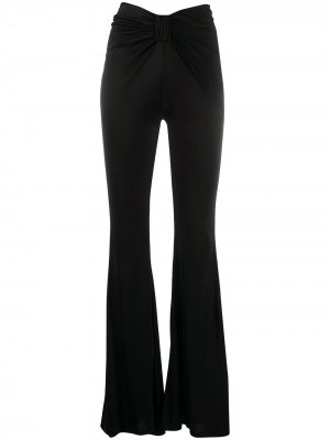 Расклешенные брюки с драпировкой Amen. Цвет: черный