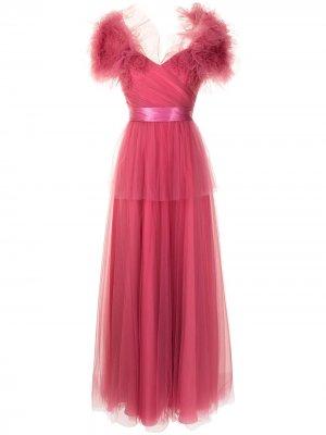 Платье La из тюля Jenny Packham. Цвет: розовый