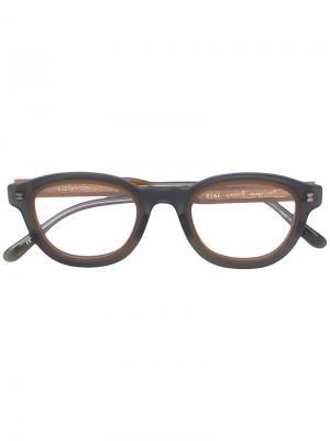 Очки в утолщенной оправе Eyevan7285. Цвет: зелёный