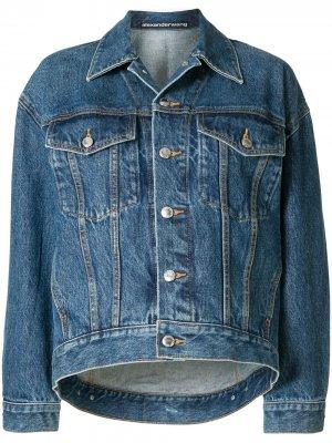 Джинсовая куртка на пуговицах Alexander Wang. Цвет: синий