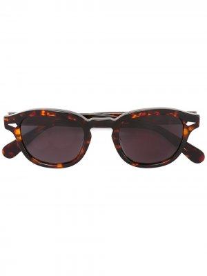 Солнцезащитные очки Lesca. Цвет: коричневый