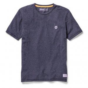 Футболки SS Mohawk River Garment Dyed Jersey Tshirt Timberland. Цвет: темно-синий
