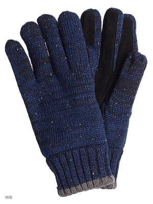 Перчатки TOM TAILOR. Цвет: темно-синий, темно-серый