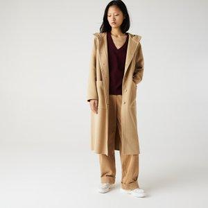 Куртка Пальто Lacoste. Цвет: бежевый