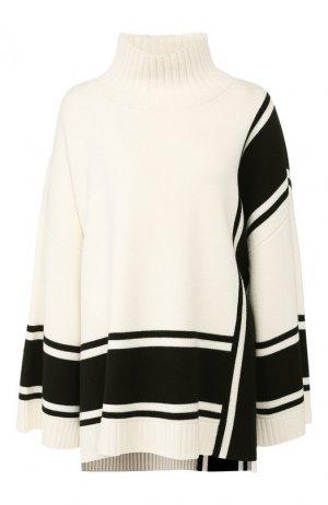 Шерстяной свитер St. John. Цвет: черно-белый