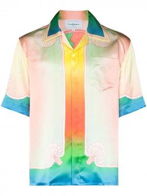 Рубашка Lucid Dreams с короткими рукавами Casablanca. Цвет: синий