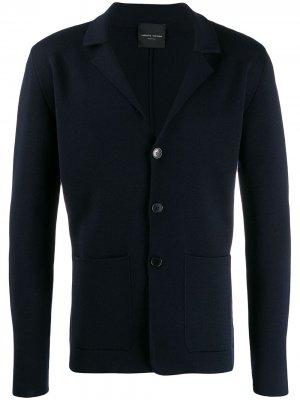 Кардиган-пиджак на пуговицах Roberto Collina. Цвет: синий