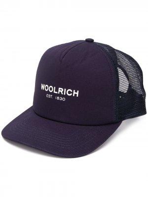 Бейсболка с логотипом Woolrich. Цвет: синий