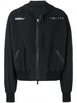 Куртка-бомбер Racing Unravel Project. Цвет: черный