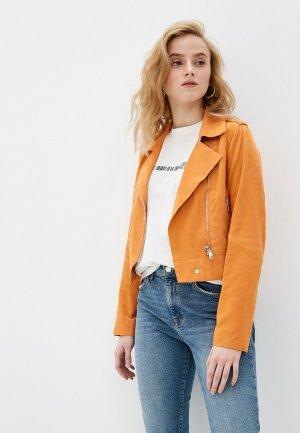 Куртка кожаная Oakwood ZULINA. Цвет: оранжевый