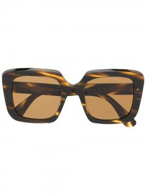 Солнцезащитные очки Franca Oliver Peoples. Цвет: коричневый
