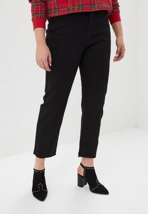 Джинсы Lost Ink Plus STRAIGHT LEG IN BLACK WITH RAW HEM. Цвет: черный