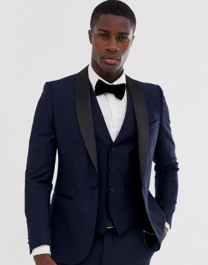 Приталенный пиджак occasion-Темно-синий French Connection
