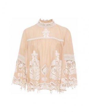 Блузка ANNA SUI. Цвет: телесный