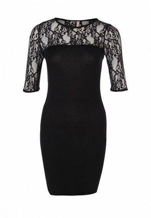 Платье LeMonada LE005EWES997. Цвет: черный