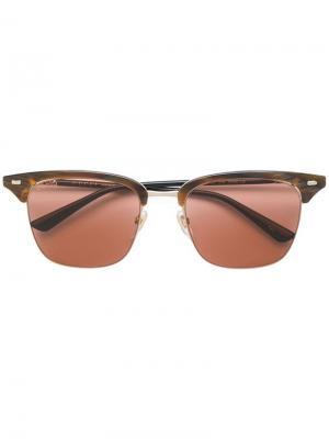 Солнцезащитные очки Clubmaster Gucci Eyewear. Цвет: коричневый