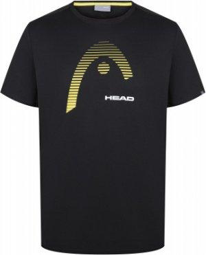 Футболка мужская Club Carl, размер 46 Head. Цвет: черный