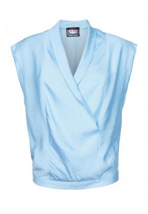 Блуза Mayamoda. Цвет: голубой
