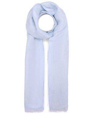 Легкий шарф изо льна и кашемира BRIONI. Цвет: голубой
