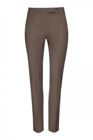 Зауженные брюки средней посадки VASSA&Co. Цвет: коричневый