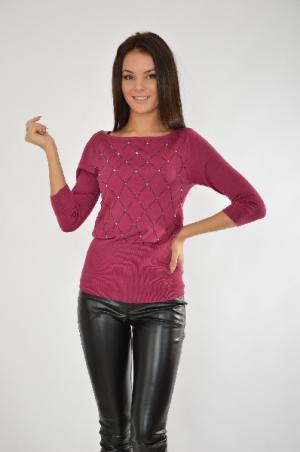 Пуловер MELROSE. Цвет: бордовый