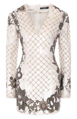 Платье Balmain. Цвет: белый