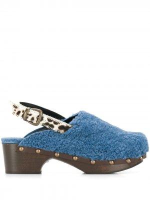 Туфли-лодочки Ruka Avec Modération. Цвет: синий
