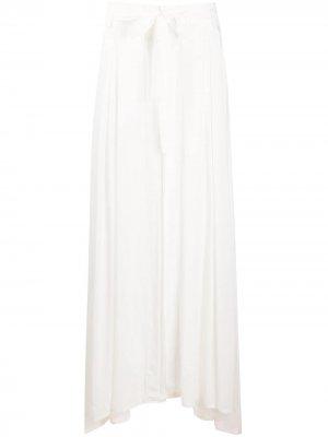 Плиссированная юбка с завязками Ann Demeulemeester. Цвет: белый