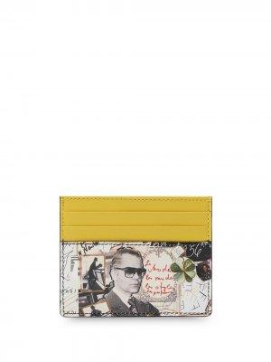 Картхолдер с принтом Fendi. Цвет: желтый