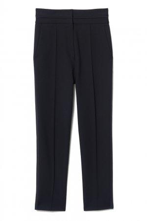 Прямые укороченные брюки черного цвета Sandro. Цвет: черный