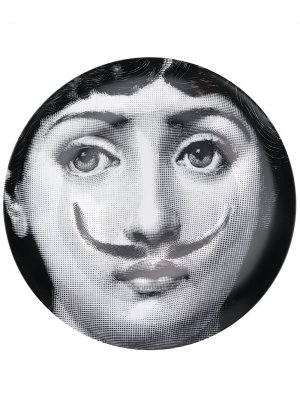 Тарелка с принтом Lina Cavalieri Fornasetti. Цвет: черный