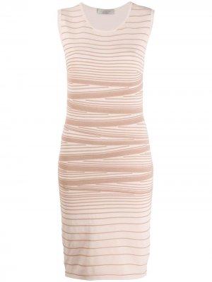 Трикотажное платье в полоску D.Exterior. Цвет: нейтральные цвета