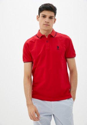 Поло U.S. Polo Assn.. Цвет: красный