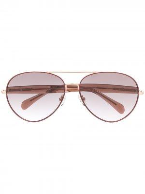 Солнцезащитные очки-авиаторы Primrose из коллаборации с Linda Farrow Matthew Williamson. Цвет: розовый