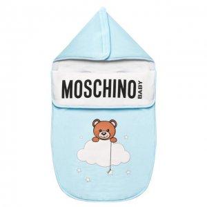 Хлопковый конверт Moschino. Цвет: синий