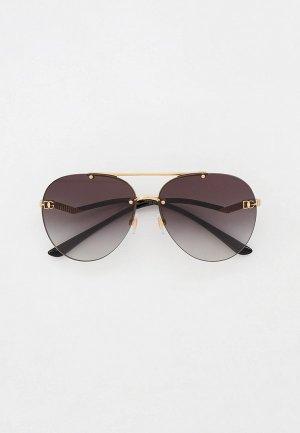 Очки солнцезащитные Dolce&Gabbana DG2272 02/8G. Цвет: золотой