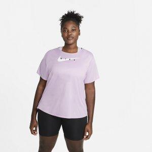 Женская беговая футболка Swoosh Run (большие размеры) - Пурпурный Nike