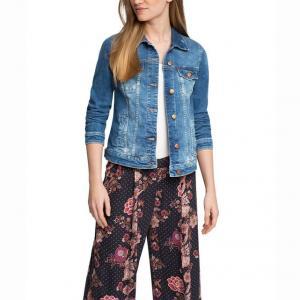 Жакет джинсовый ESPRIT. Цвет: синий потертый