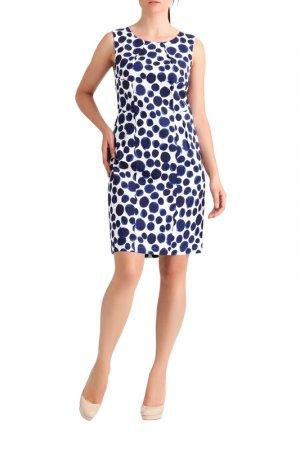 Платье Apart. Цвет: кремовый, темно-синий