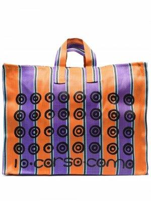 Сумка-тоут с логотипом 10 CORSO COMO. Цвет: оранжевый