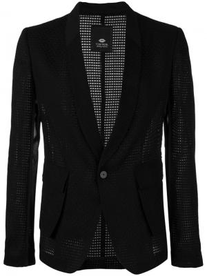Блейзер с лацканами-шалька Tom Rebl. Цвет: чёрный