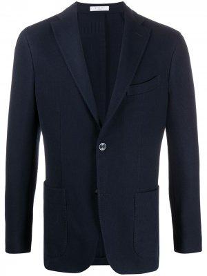 Пиджак с длинными рукавами Boglioli. Цвет: синий