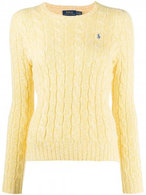 Джемпер фактурной вязки Polo Ralph Lauren. Цвет: желтый