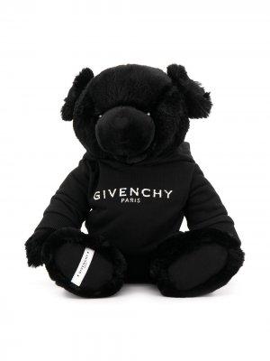 Мягкая игрушка в виде медведя с логотипом Givenchy Kids. Цвет: черный