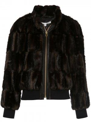 Куртка-бомбер Bellfire Veronica Beard. Цвет: коричневый